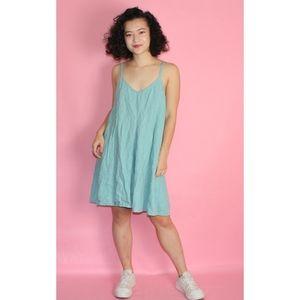 Mango Linen  Blue Summer Dress